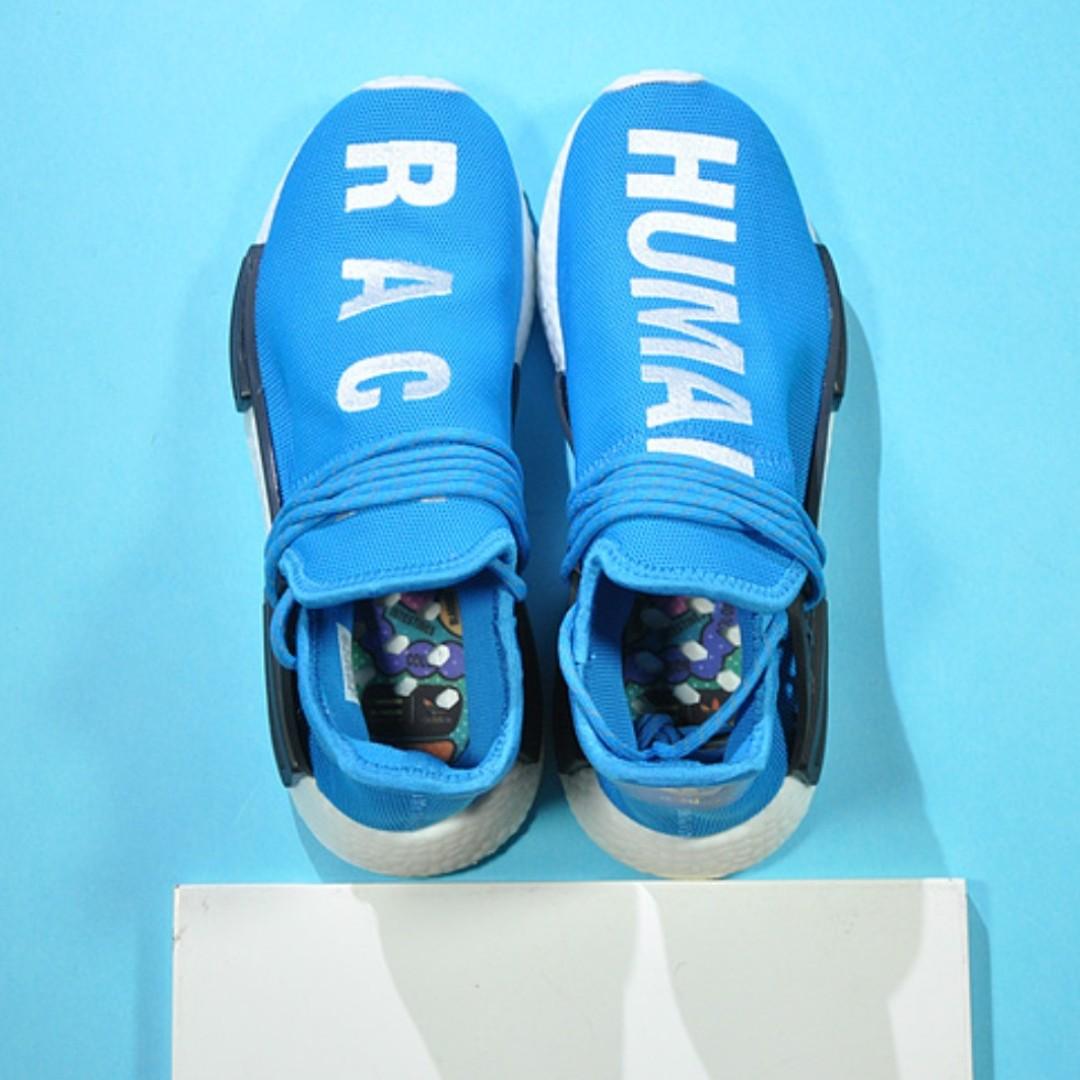 88fd35576e317 adidas NMD X Human Race Pharrell Williams Blue White copy