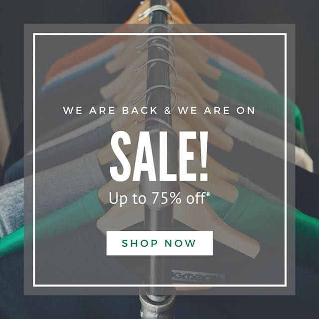 After a long hiatus, we are now back & we are on sale!