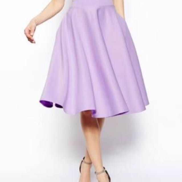 Asos Midi Skirt (Lilac)