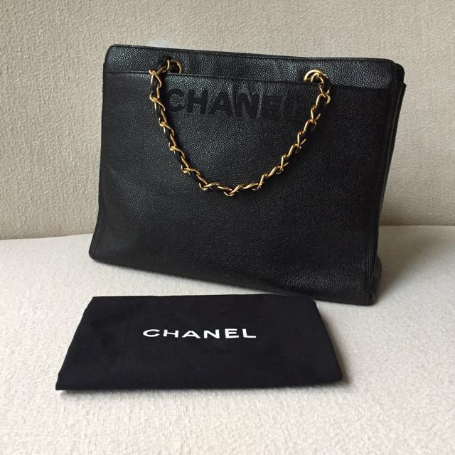 AUTHENTIC CHANEL Caviar Tote Bag