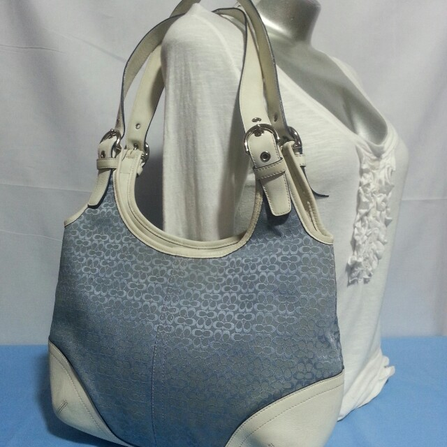 Authentic Coach Monogram Hobo Bag