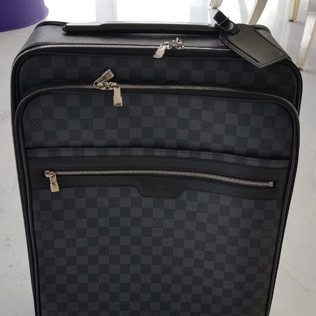 395518bc6155 Authentic Louis Vuitton Graphite Damier Business Carry-On Luggage ...