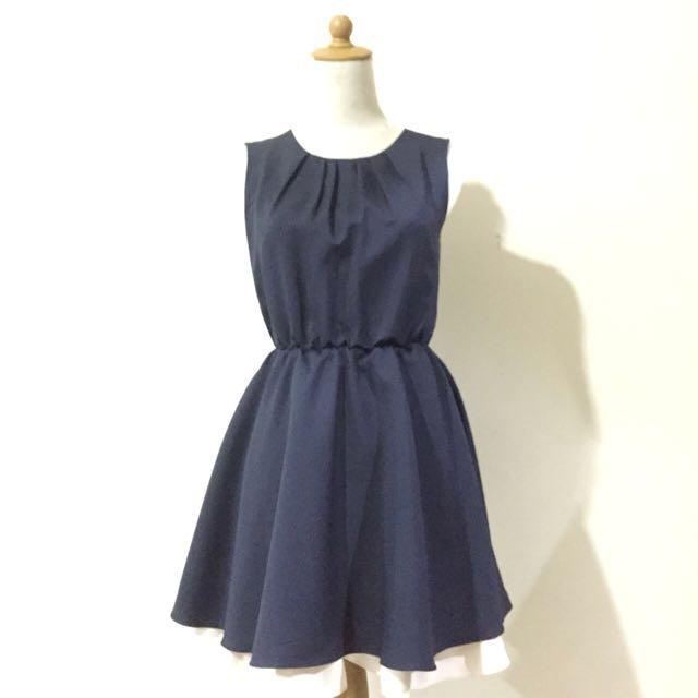 Baby doll navy dress