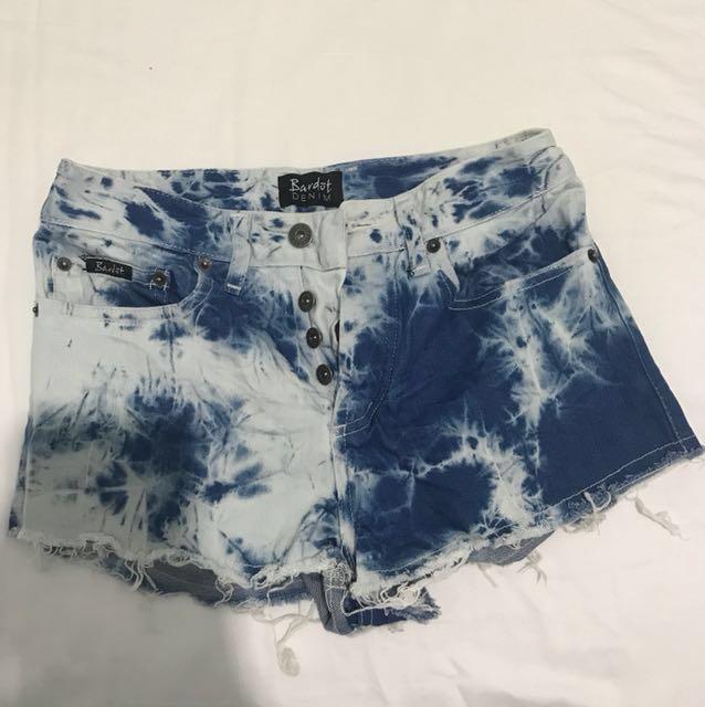 BARDOT denim short shorts