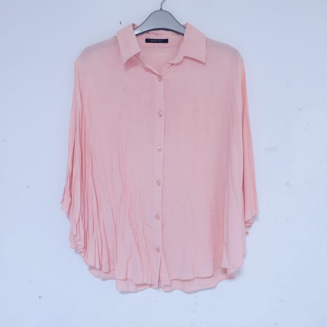 Batwing Shirt in Baby Pink