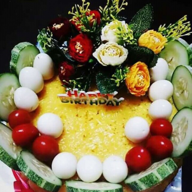 Birthday Cake Pulut Kuning Food Drinks Baked Goods On Carousell