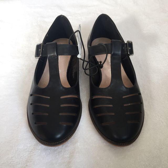 Black T-Bar Shoes BNWT