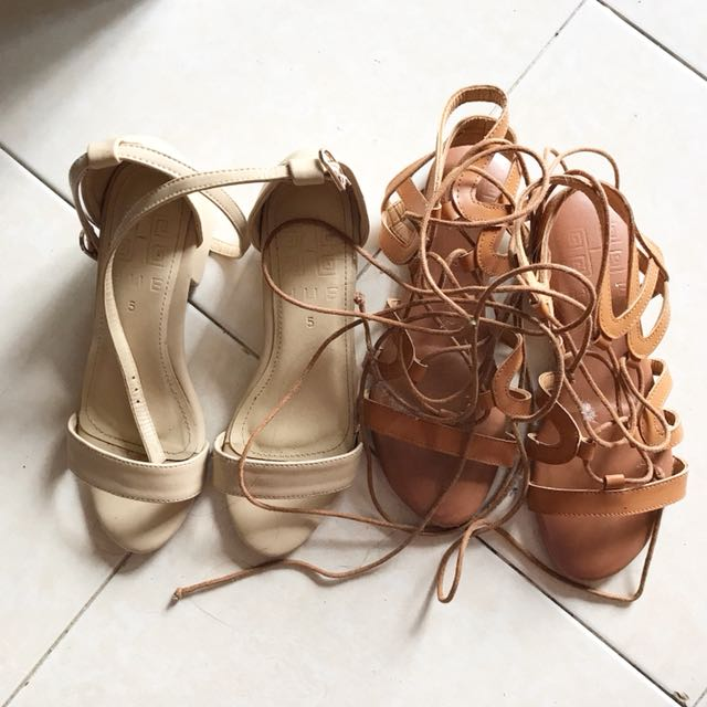 Block heels and lace up shoes