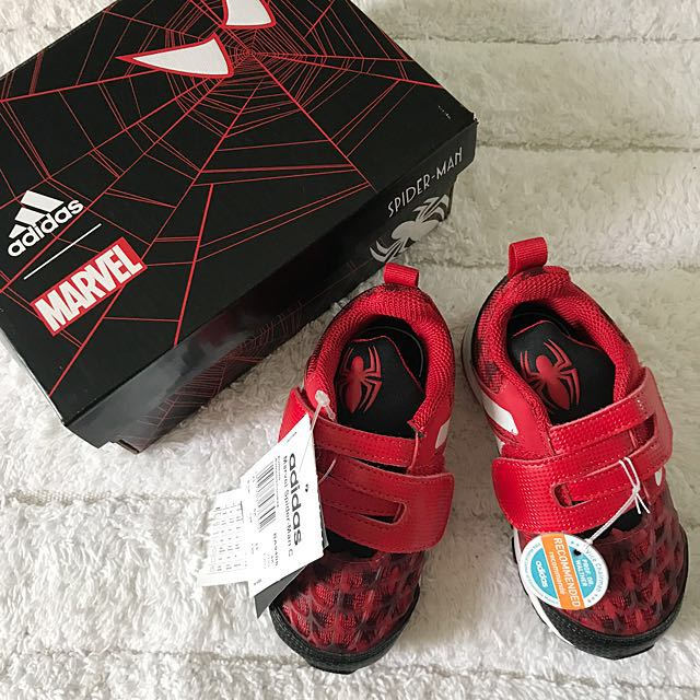 a031ad34ceb BN Adidas Toddler Boy Red Marvel Spider-Man Running Shoes US6.5K ...