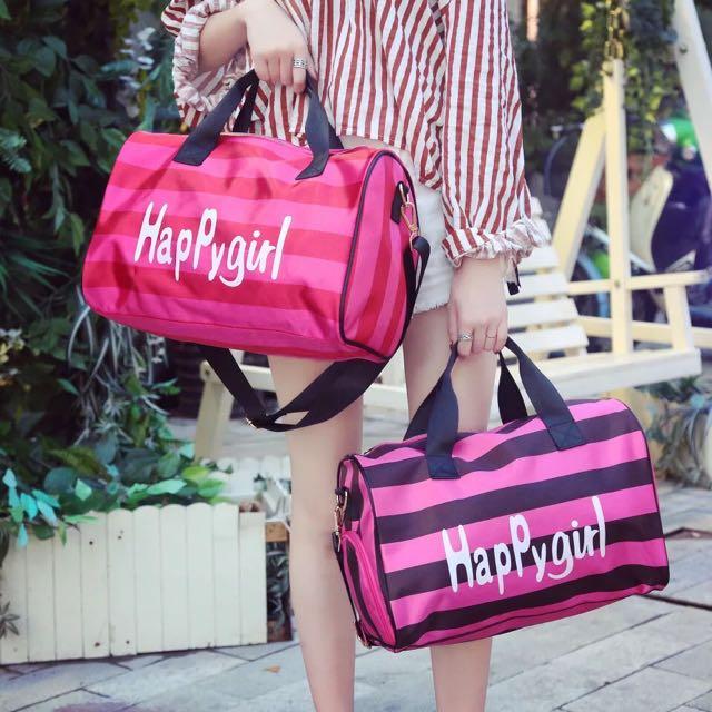 BN Happygirl Striped Gym Bag