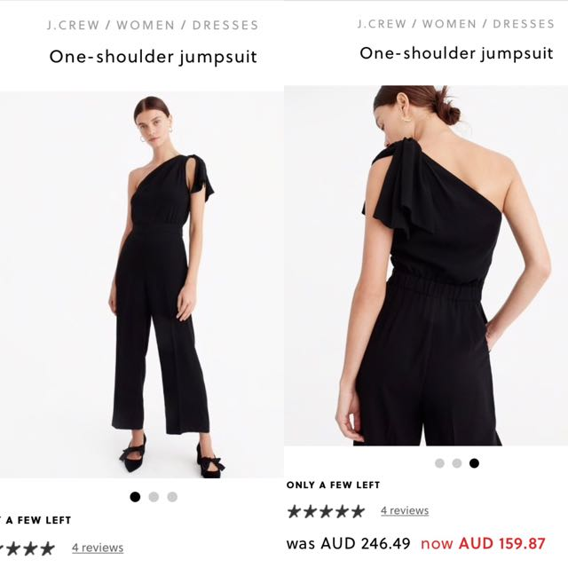 Brand new J.CREW one shoulder jumpsuit