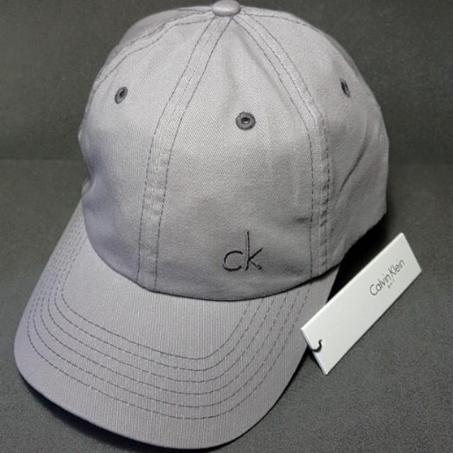 772c12ac0dc Calvin Klein CK Twill Cotton Golf Cap Grey Baseball Running