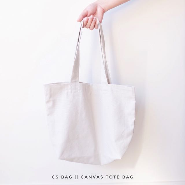 Canvas tote bag with FREE pouch bag