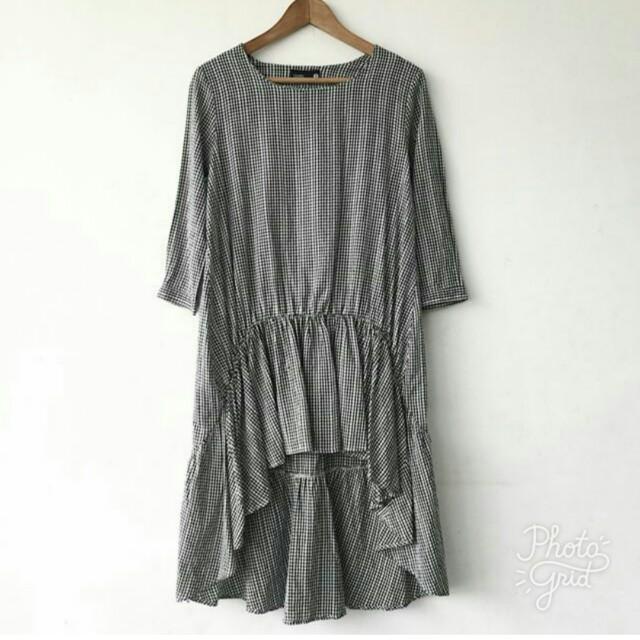 Chapel Gingham Frilled Dress
