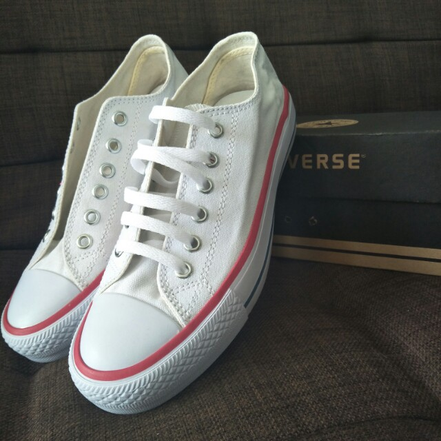 Converse Dainty Ox Red and Blue Stripe Premium