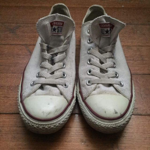 Converse white sneakers womens size 9