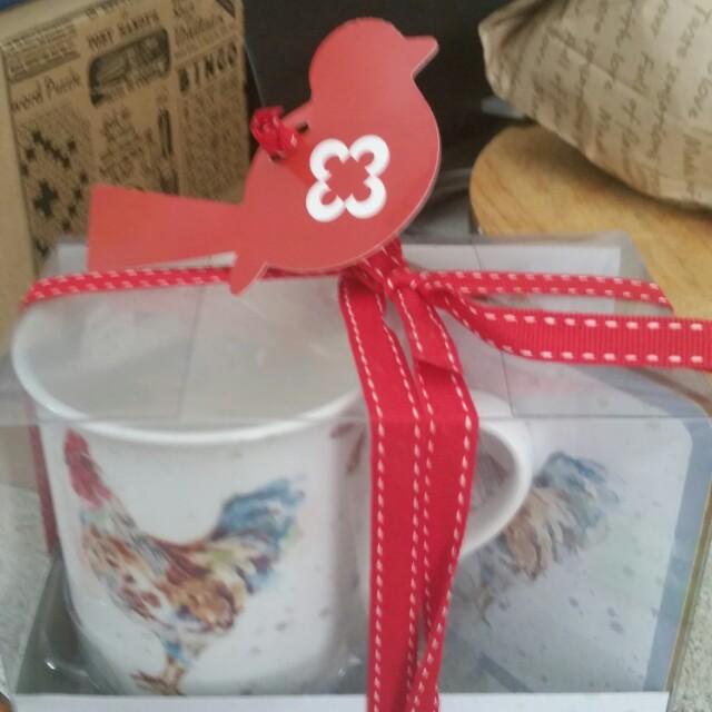 Country Cockrell mug and Coaster set
