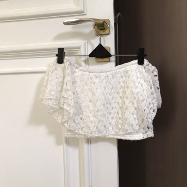 Cropped offshoulder lace