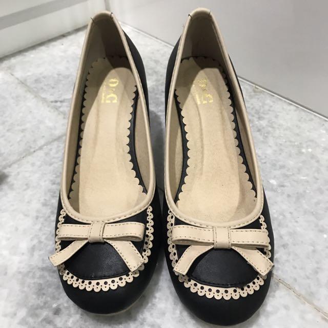 D&C singapore black ribbon heels