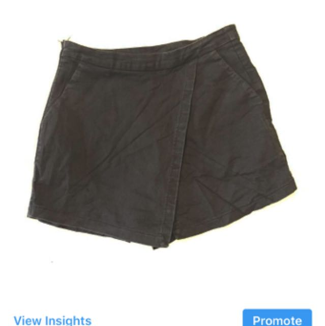 Denim origami shorts