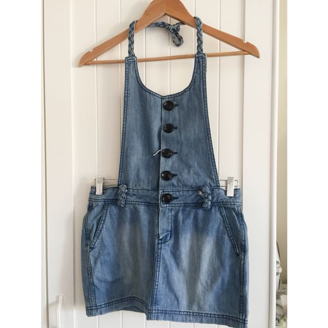 Denim overall dress size XS