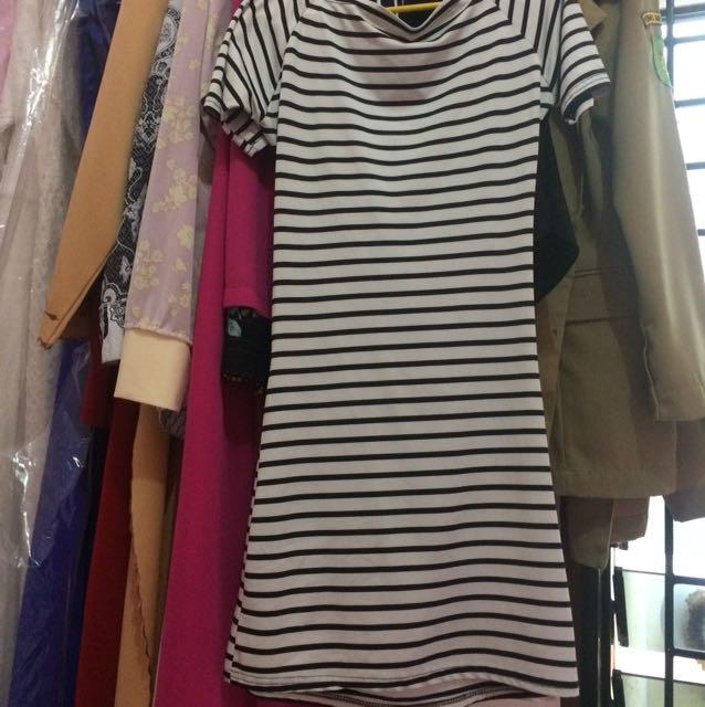 Dress stripe black&white