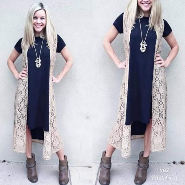 Dress with blazer lace