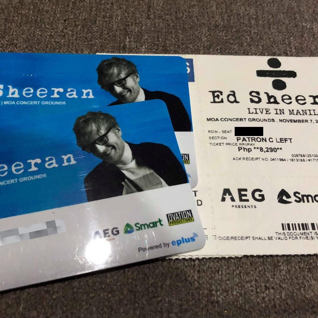 ED SHEERAN IN MANILA - 1 ticket Patron C