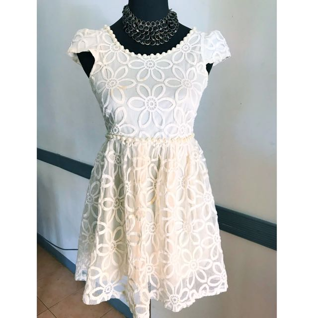 Embroidery white dress