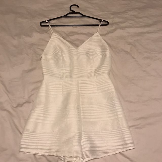 Finders keepers white playsuit