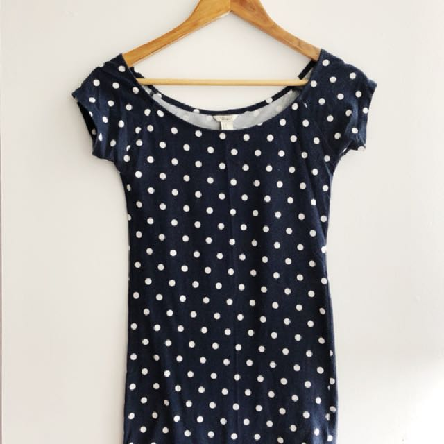 Fitted Polka Dot Dress