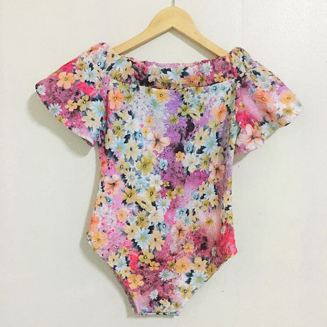 Floral Off shoulder Swimsuit / Bodysuit