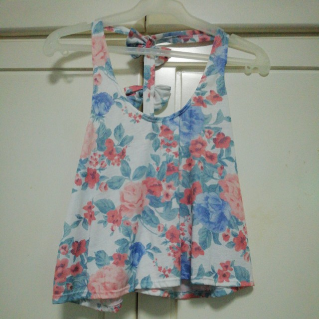 Floral Sleeveless with Bow