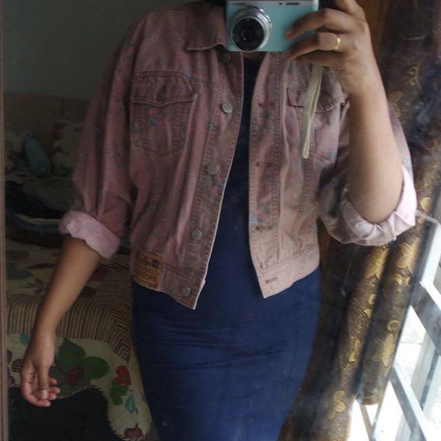 Flower / Floral jeans jacket