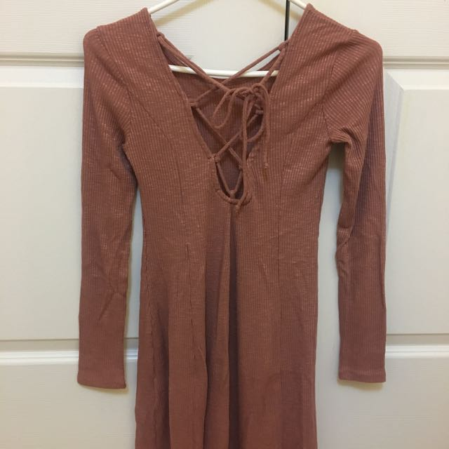Forever 21 Lace-Up Dress (XS)
