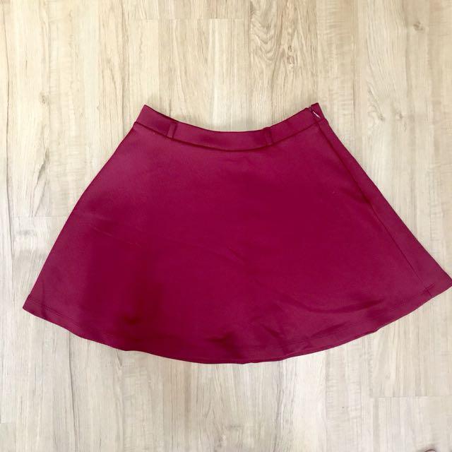 Forever 21 Skirt (maroon)