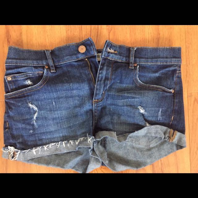 garage high waisted short shorts