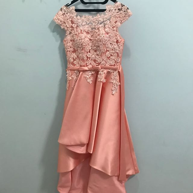 Gaun Pesta Pernikahan Ulang Tahun Perpisahan Warna Peach Women S Fashion Clothes Dresses Skirts On Carou