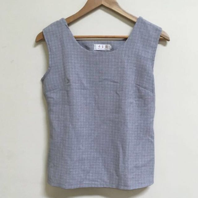 Gray Office Top