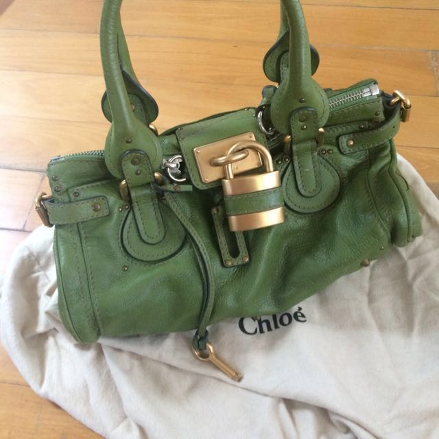 d05acda7ba Green Chloe Paddington Handbag
