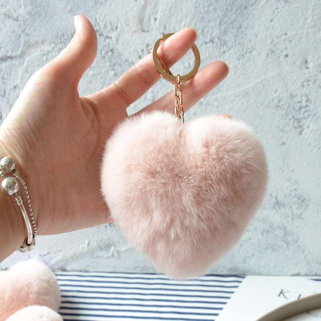 Heart fury keychain