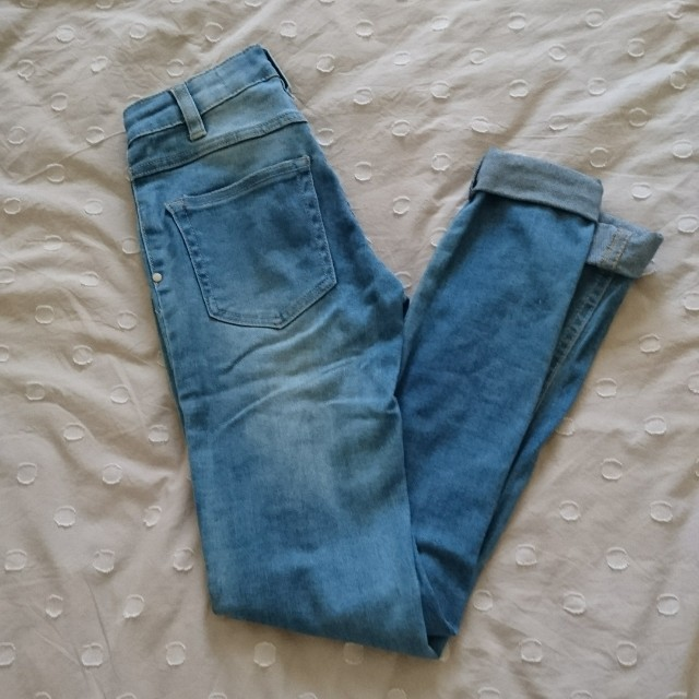 high waisted distressed skinny jeans size 4