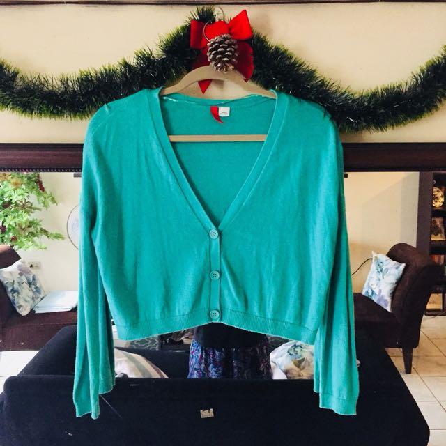 H&M Green Bolero Cardigan
