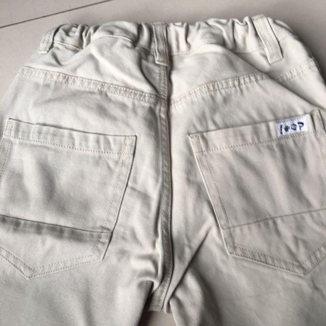 H&M pants, in cream color