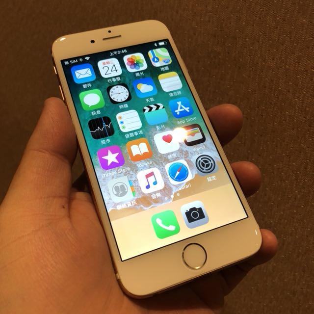 i6 iPhone6 64G 換全新6s玫瑰金外殼