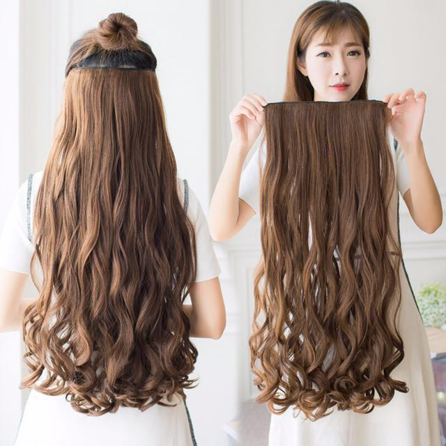 Instock Korean Ulzzang 4 Colors Different Lengths Curly Wavy Hair