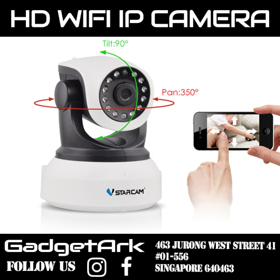 Vstarcam IP Camera Pan / Tilt / Zoom Wireless IP Indoor Security  Surveillance System 1080p HD Night Vision, Remote Monitor with iOS, Android  App -