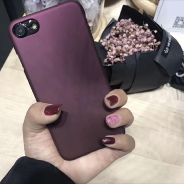 iPhone Case red wine