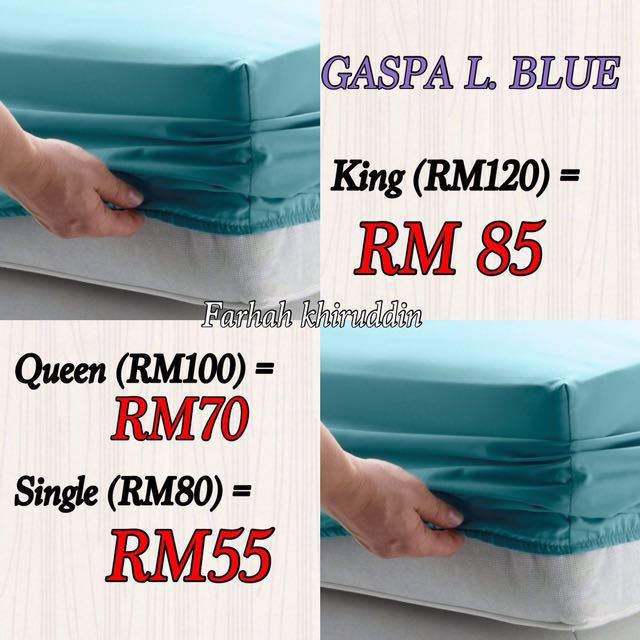 Ikea bedsheet gaspa blue KING only  left