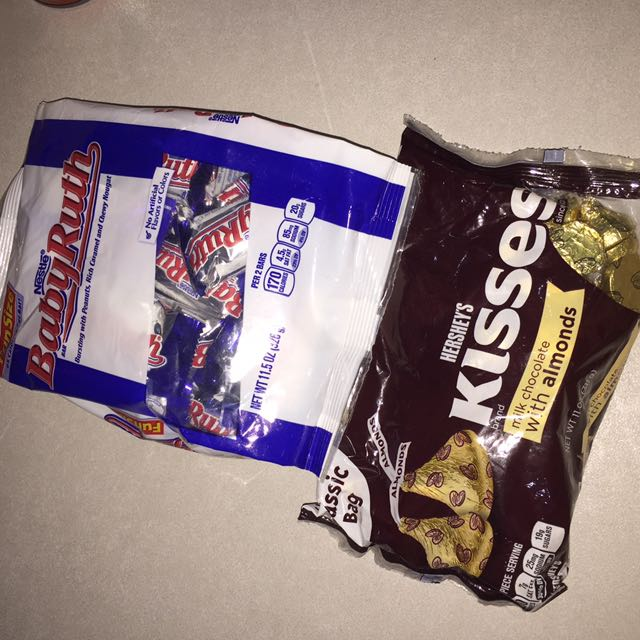 Kisses almond & baby ruth chocolate